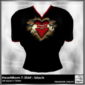 HeartMom T : Black